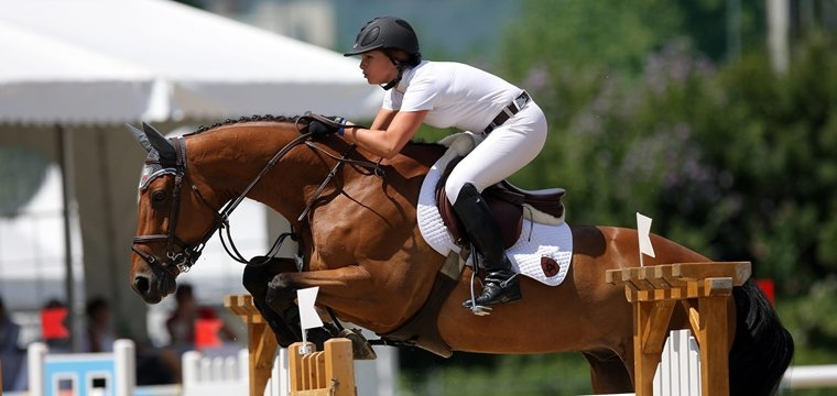 International horse-riding competition Ascona